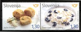 SLOVENIA SLOWENIEN SLOVÉNIE 2018 GASTRONOMY GASTRONOMIA FOOD ** SET ** MNH - Food