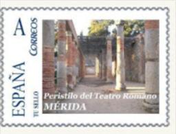 """Spain 2008– España """"Tu Sello"""". Sello Personalizado Del Peristilo Del Teatro Romano De Mérida - Arqueología"""