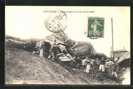 CPA Coutras, Zerstörter Train Nach Der Chemin De Ferkatastrophe 1907 - Non Classés