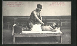 AK Caucase, Etuviste Au Bain De Soufre, Masseur - Health