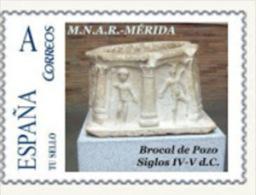 """Spain 2009– España """"Tu Sello"""". Sello Personalizado De Brocal De Pozo Romano De Mérida - Arqueología"""
