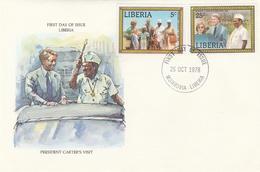 Visite Du Président Des Etats Unis D'Amérique Jimmy Carter President Of America Visit Liberia William Richard Tolbert - Liberia