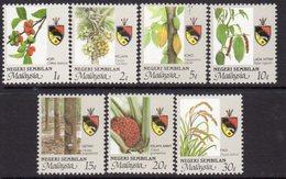 Malaysia Negri Sembilan 1988-99 Agricultural Produce Set Of 7, MNH, SG 117/23 - Malaysia (1964-...)