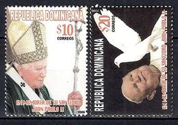 República Dominicana 2006 - The 1st Anniversary Of The Death Of Pope John Paul II, 1920-2005 - Dominican Republic