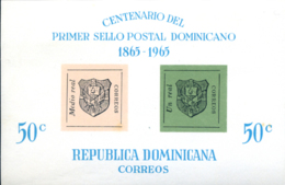 Ref. 248552 * NEW *  - DOMINICANA . 1965. CENTENARY OF THE STAMP. CENTENARIO DEL SELLO - Dominicaine (République)