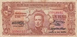 UN PESOS. URUGUAY. CIRCA 1940s-BILLETE BANKNOTE BILLET NOTA-BLEUP - Uruguay