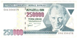 Turkey 250000 Lire Lirasi 1970 Turchia 250.000 - Turquie