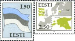 Ref. 164935 * NEW *  - ESTONIA . 1991. NATIONAL SYMBOLS. SIMBOLOS NACIONALES - Estonia