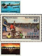 Ref. 48605 * NEW *  - ETHIOPIA . 1981. INAUGURATION OF BARO RIVER BRIDGE. INAUGURACION DEL PUENTE DEL RIO BARO - Etiopía