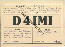 QSL - QTH - D4IMI - 1932 - Amateurfunk