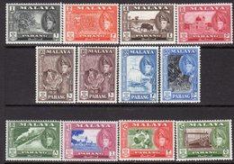 Malaya Pahang 1957-62 Sultan Abu Bakar Definitives Set Of 12, Hinged Mint, SG 75/86 - Pahang