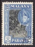 Malaya Pahang 1957-62 Sultan Abu Bakar Definitives 50c Value, P. 12½x13, Used, SG 83a - Pahang
