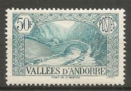 ANDORRE - Yv. N° 65   *  50c  Paysages    Cote  2,5  €  BE - Andorre Français