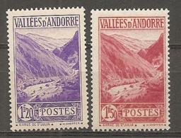 ANDORRE - Yv. N° 76,79   *  1f20,1f50  Paysages    Cote  1  €  BE - Andorre Français