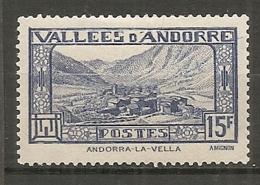 ANDORRE - Yv. N°  91   *  15f  Paysages    Cote  1  €  BE - Andorre Français