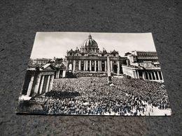 ANTIQUE PHOTO POSTCARD ITALY - VATICAN - PIAZZA E BASILICA DI S. PIETRO CIRCULATED 1959 - Vatican