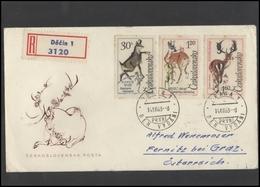 CZECHOSLOVAKIA Brief Postal History Envelope CS 267-8 Fauna Animals - Czechoslovakia