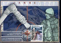 39939 Italia, Maximum 2001 Archeologica Museum Sudtirol Bozen,prehistory,der Mann Aus Dem Eis,uomo Venuto Dal Ghiaccio - Préhistoire