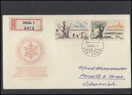 CZECHOSLOVAKIA Brief Postal History Envelope CS 269 Visit Czechoslovakia Skying Mountains Ships Sailing - Czechoslovakia