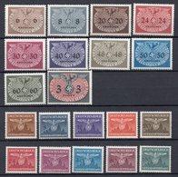 POLONIA Occupazione Tedesca 1940/43  Francobolli Di Servizio Nuovi Senza  Linguella MNH  /**. - Collections (without Album)