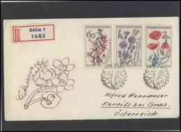 CZECHOSLOVAKIA Brief Postal History Envelope CS 270-1 Flora Plants Flowers - Czechoslovakia