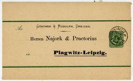 "S 7 Streifband ""DRESDEN-ALTSTADT * B"" Nach Plagwitz-Leipzig - Storia Postale"
