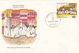 1980 FDC NIGER SULTAN ZINDER Royalty FDC Special Cover TAPIS CARPET - Niger (1960-...)