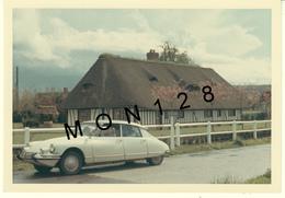 VOITURE AUTOMOBILE CITROEN DS CHAUMIERE NORMANDE  - PHOTO 12,5x9 Cms - Cars