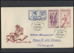 CZECHOSLOVAKIA Brief Postal History Envelope CS 273 Red Propaganda Youth Women Space Exploration - Czechoslovakia