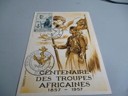 CARTE POSTALE MAXIMUM CENTENAIRE DES TROUPES AFRICAINESZ 1857/1957 - Frankreich