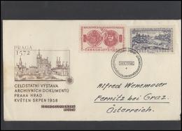 CZECHOSLOVAKIA Brief Postal History Envelope CS 274 The State Exhibition Of Archival Documents - Czechoslovakia