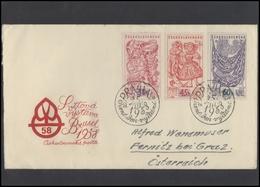 CZECHOSLOVAKIA Brief Postal History Envelope CS 275 World Expo Brussels - Czechoslovakia