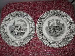 Rare 11 Assiettes De Creil Et Montereau Pour Le Retour De Napoléon Bonaparte Aux Invalides En 1840 Assiette Parlante - Creil Montereau (FRA)