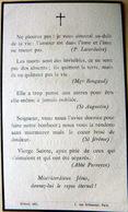 MEMORANDUM  SOUVENIR  MADAME CAMILLE ROCHER NEE DE FONTAINES DE LOGERES   FAIRE PART DECES - Décès