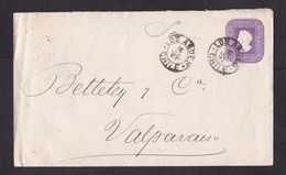 Chile: Stationery Cover, 1897 (minor Discolouring, See Scan) - Chili