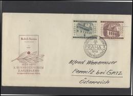CZECHOSLOVAKIA Brief Postal History Envelope CS 276 Musicology Music Personalities Nejedly Anniversary Of Birth - Czechoslovakia