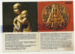 Image Pieuse. Calendrier 1982 Les Missionnaires Du Sacré-Coeur. 9,5/13 Cm - Calendriers