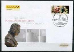 """First Day Cover Germany 2010 Mi.Nr.2805 Bogenmarke Ersttagsbrief""""300 Jahre Porzellanherstellung In Deutschland """" 1 FDC - Porcelain"""