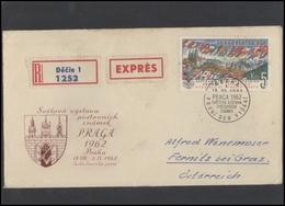 CZECHOSLOVAKIA Brief Postal History Envelope CS 277 World Philatelic Exhibition Prague 1962 Flags - Czechoslovakia