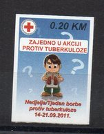 BOSNIE-HERZEGOVINE - CROIX-ROUGE - RED CROSS - LUTTE CONTRE LA TUBERCULOSE - FIGHT AGAINST TUBERCULOSIS - 2011 - - Bosnie-Herzegovine