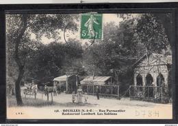 3284 D78H AK PC CPA HOUILLES RUE PARMENTIER RESTAURANT LAMBERT LES SABLONS 1907 TTB - Houilles