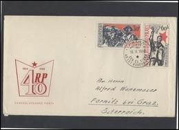 CZECHOSLOVAKIA Brief Postal History Envelope CS 283 Red Propaganda Workers Press - Czechoslovakia