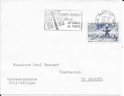 SEINE 75 - PARIS VIII - FLAMMME : CHAMPS ELYSEES / AME ET COEUR / DE PARIS - TIMBRE N° 783 - Mechanical Postmarks (Advertisement)