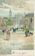 Bergen - Mons - Place De La Station - La Belgique Pittoresque Edition Artistique 32-48 - Lith J.L. Goffart - 1903 - Mons