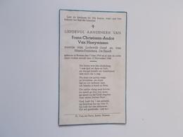 Bidprentje-Kind: Frans VAN HOEYMISSEN Zoontje Van Lodewijk En Maria DE SMEDT, Rossem 7/6/1946 - 13/11/1948 - Décès