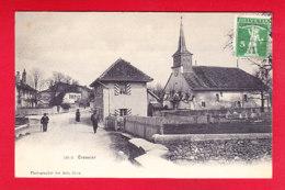 E-Suisse-716P220  CRASSIER, Une Rue De La Ville, Vue Sur L'église, Cpa Précurseur BE - VD Vaud