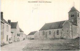 FOLLAINVILLE .... PLACE DE LA PAROISSE - France