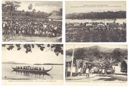 4 Cpa Haute Guinée - Ile Bouka, Bougainville, Mission Des Salomon, Pirogue,    ( S. 3390 ) - Cartes Postales