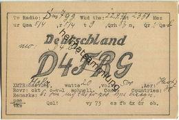QSL - QTH - D4FRS - 1933 - Amateurfunk