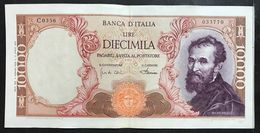10000 Lire Michelangelo 04 01 1968 Q.spl  LOTTO 2070 - [ 2] 1946-… : Republiek